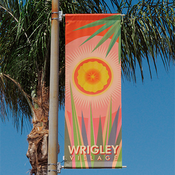 wrigley (village) street banners